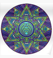 Psychedelic Bassnectar Sacred Mandala Trippy Hallucinogenic  Poster