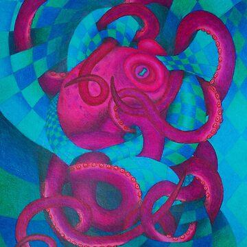 Checkered Octopus by SchwaigerStudio
