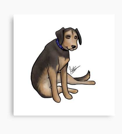Scout the Saddest Puppy Canvas Print