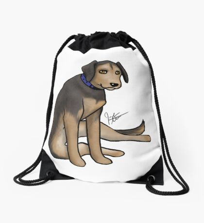 Scout the Saddest Puppy Drawstring Bag