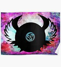 Vinyl Records with Wings - Retro Grunge Vintage Art - Music DJ! Poster