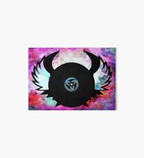 Vinyl Records with Wings - Retro Grunge Vintage Art - Music DJ! Art Board