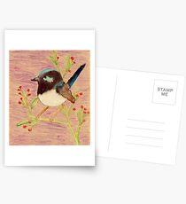 Spring Berry Bird Postcards
