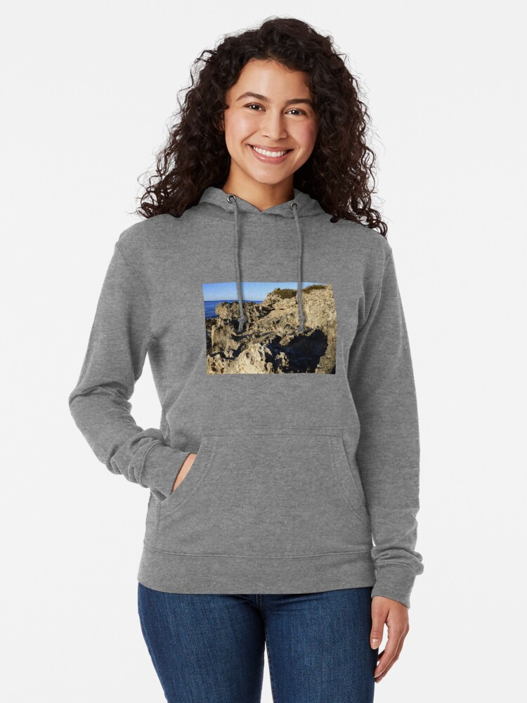 Alternate view of Light and Shadows on the Beach Lightweight Hoodie