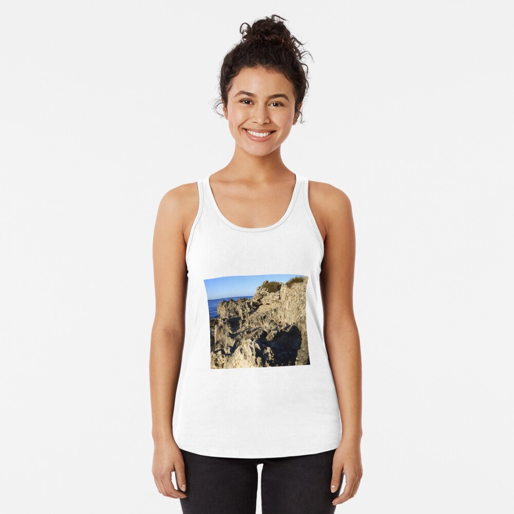 Light and Shadows on the Beach Racerback Tank Top