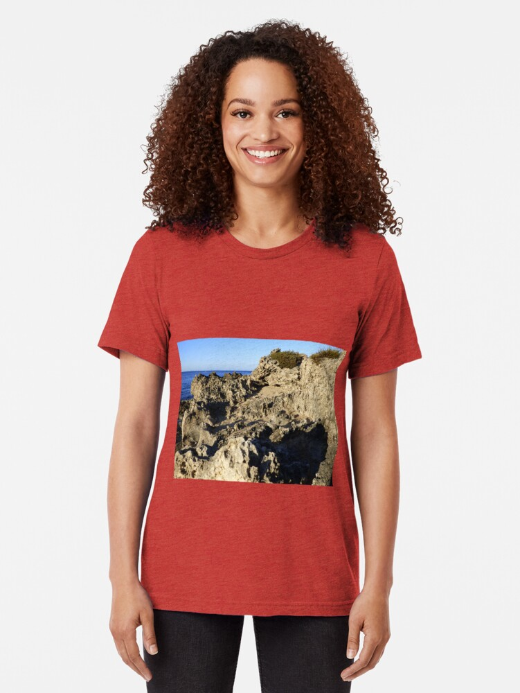 Alternate view of Light and Shadows on the Beach Tri-blend T-Shirt