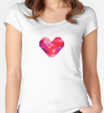 Prism Heart Women's Fitted Scoop T-Shirt