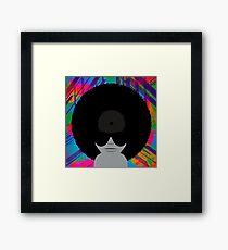 Funky Music Afro Vinyl Records Framed Print