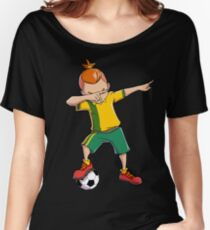 Soccer Boy Dabbing Dab Dance T shirt Funny Football Boys Tee Women's Relaxed Fit T-Shirt