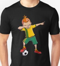 Dabbing Soccer T shirt for Boys Dab Dance Funny Football Tee T-Shirt