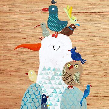 Bird king - Seagull by surfingsloth