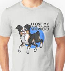 I Love My Australian Shepherd T-Shirt