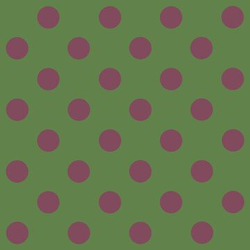 Pink and Green Polka Dots | Pattern  by koovox