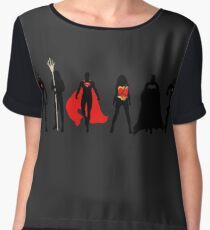 JL Minimalist Superhero Graphic Women's Chiffon Top