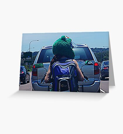 Is it hard being green? Greeting Card