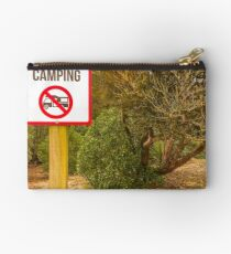 No Overnight Camping Studio Pouch