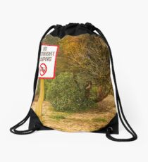 No Overnight Camping Drawstring Bag