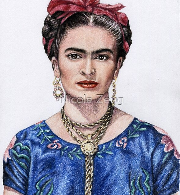 Tribute to Frida Kahlo by Nicole Zeug