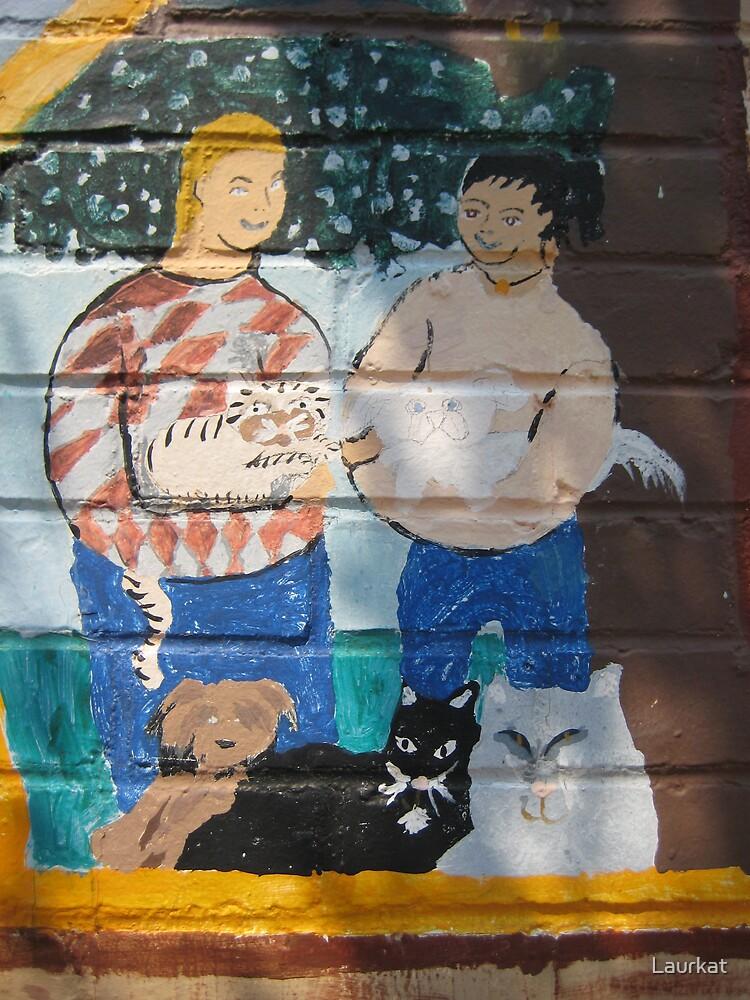 Ellijay mural in summer by Laurkat