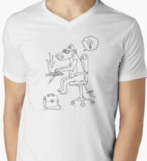 Leonardo programming Men's V-Neck T-Shirt
