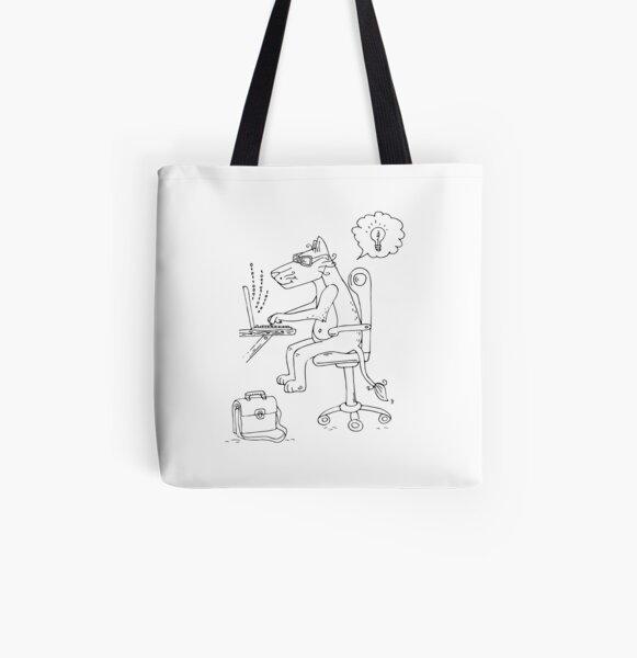 Leonardo programming All Over Print Tote Bag