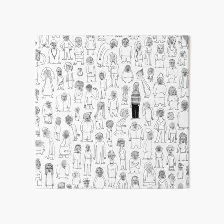 Crowd Art Board Print
