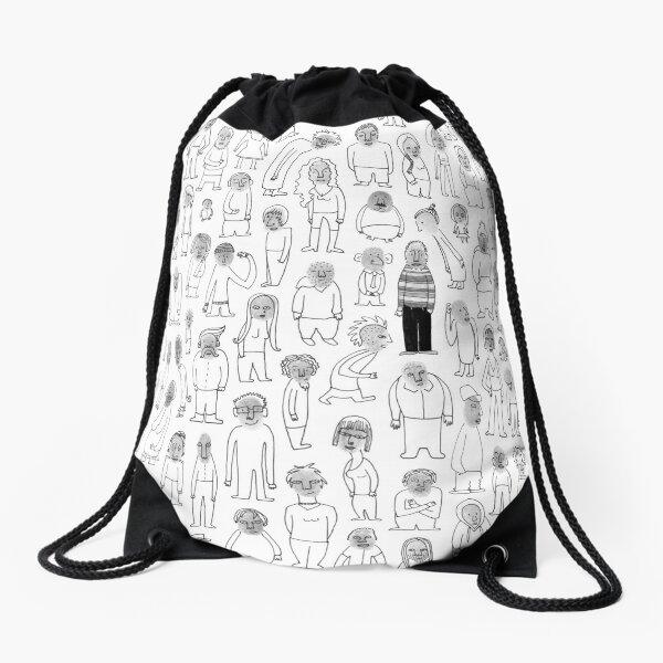 Crowd Drawstring Bag