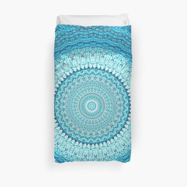 White Coastal Spray Mandala  Duvet Cover