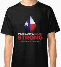 Peace Love Texas Strong - Hurricane Harvey Classic T-Shirt