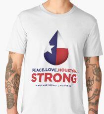Peace Love Houston Strong - Hurricane Harvey Men's Premium T-Shirt