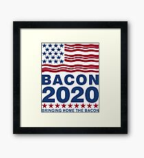 Vote Bacon in 2020 Framed Print
