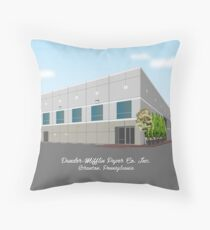 """Dunder Mifflin Paper Co. Inc - Scranton, PA"" - As seen on ""The Office"" Throw Pillow"