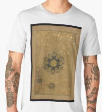 Floral decoration  in the form of a circular medallion in an islamic manuscript from Pakistan (16th century) Men's Premium T-Shirt