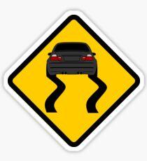 E46 burnout Sticker