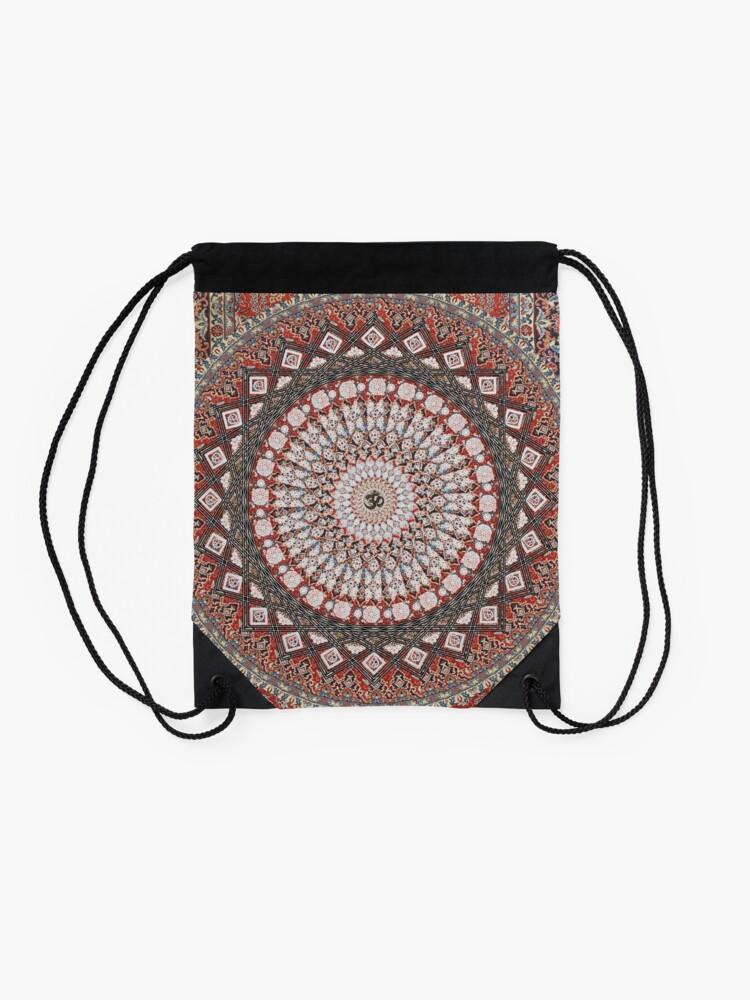 Alternate view of Om Mandala Drawstring Bag