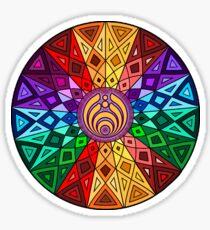 Bassnectar - Rainbow Geometric Mandala - Psychedelic Funkadelic Trippy Festival Hallucinogen  Sticker
