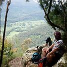 Breakfast at Nunimbah Valley Lookout. by MardiGCalero