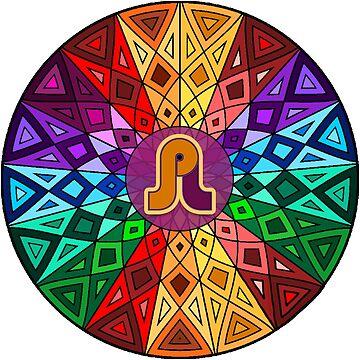 Pretty Lights - Rainbow Geometric Mandala - Psychedelic Funkadelic Trippy Festival Hallucinogen  by rickitywrecked