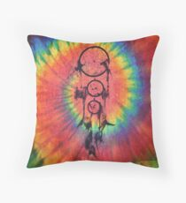 Catcher of the Vivid Nights | Tie Dye Throw Pillow
