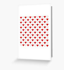 Cute Heart Pattern Greeting Card