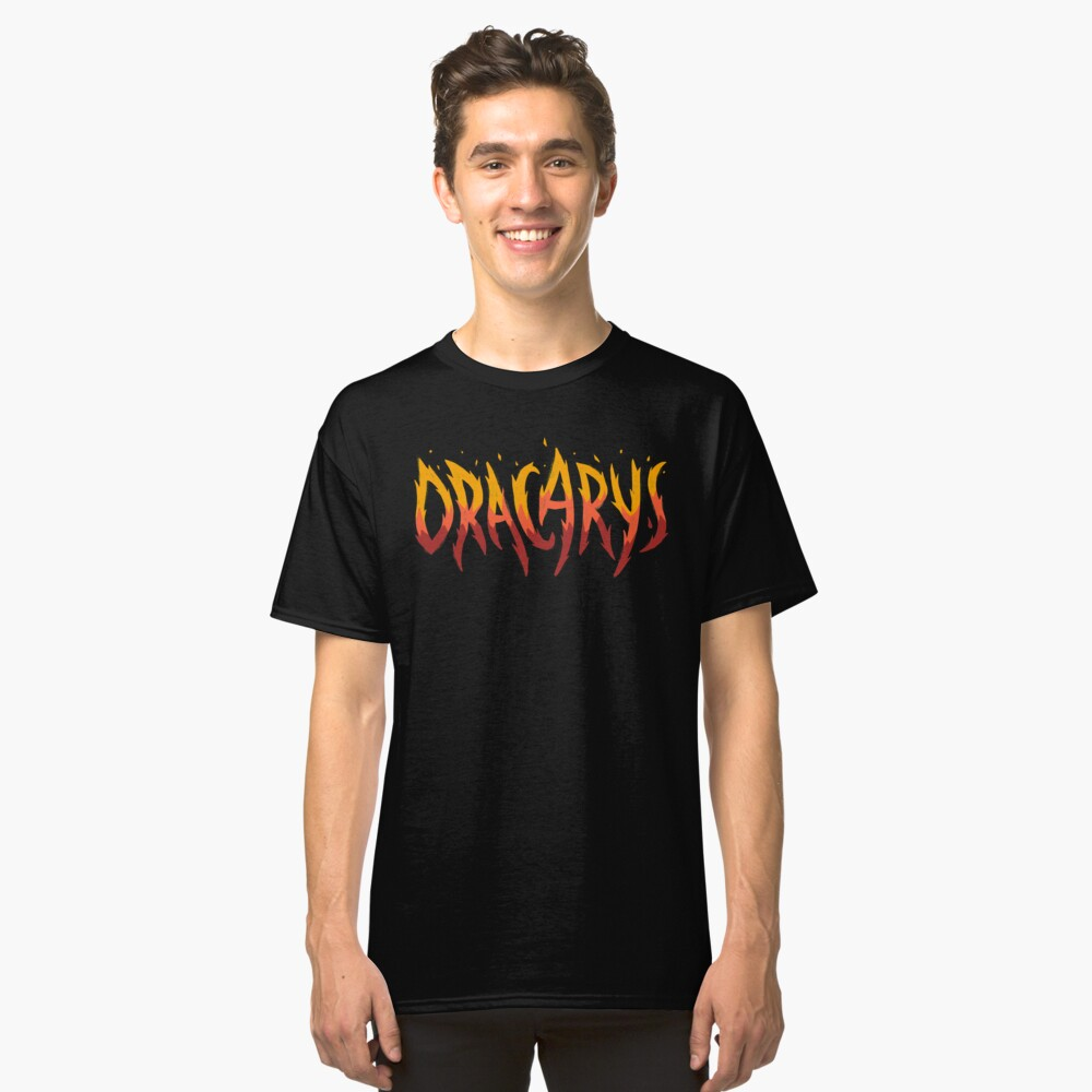 Dragonfire - Game of Thrones Typography T-Shirts