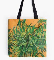 """Ash-tree"", green & yellow, floral art Tote Bag"