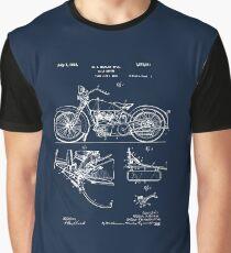 Harley Davidson Model JD Patent Poster, Motorcycle Print, Harley Davidson Poster, Motorcycle Art, Blueprint Graphic T-Shirt