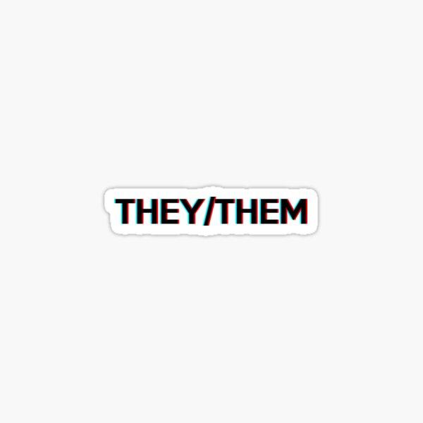 They/Them Sticker