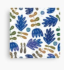 I love blue leaves Canvas Print