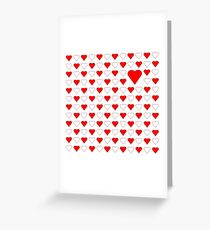 Cute Red Heart Greeting Card