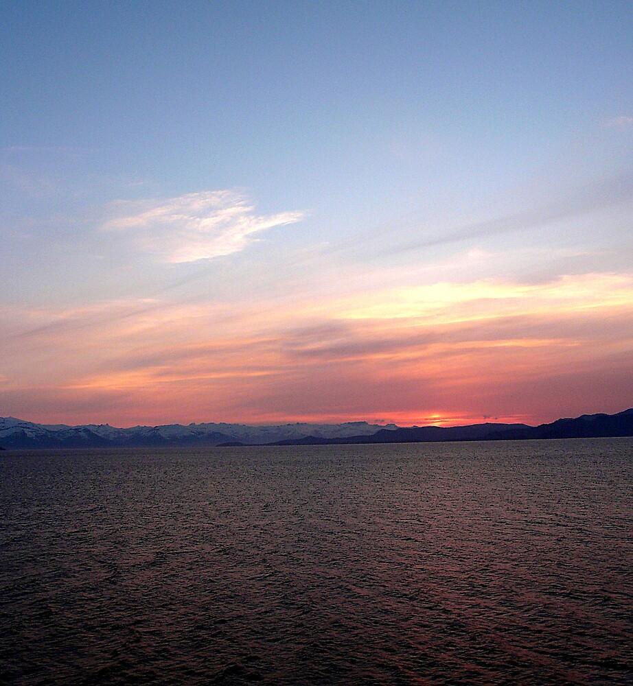 Sunset in Alaska, August 2007 by Liz Wear