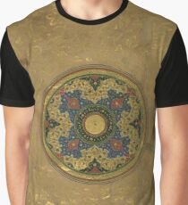 Floral decoration  in the form of a circular medallion in an islamic manuscript from Pakistan (16th century) Graphic T-Shirt