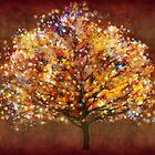Starry tree  by Valerie Anne Kelly