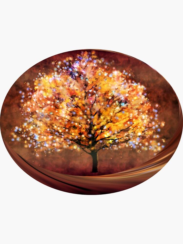 Starry tree  by valzart
